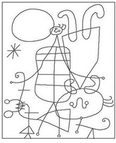 Figures and Dog in Front of the Sun by Joan Miro coloring page from Joan Miró category. Select from 26388 printable crafts of cartoons, nature, animals, Bible and many more. Famous Abstract Artists, Famous Artists Paintings, Art Lessons For Kids, Art For Kids, Joan Miro Pinturas, Joan Miro Paintings, Printable Crafts, Arte Pop, Free Printable Coloring Pages
