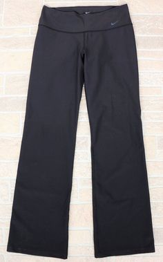 Nike Dri Fit Ten Less Solid Black Yoga Running Athletic Pants Womens Medium M #Nike #PantsTightsLeggings