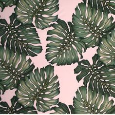 Tropical Monstera Leaves Oilcloth from I Just Love That Fabric
