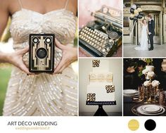 art deco wedding inspiration - 20s inspired wedding in gold and black