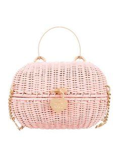 Chanel Rattan Heart Basket Crossbody Bag