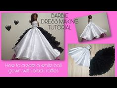 Barbie Gowns, Barbie Dress, Sewing Barbie Clothes, Doll Clothes, Designer Skirts, White Ball Gowns, Gown Pattern, Dress Tutorials, Barbie Friends