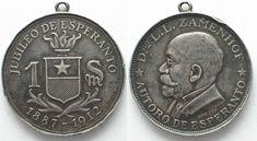 1912 Esperanto ESPERANTO 1 Spesmilo 1912 ZAMENHOF silver VF RARE!!! # 95602 VF+ Coin Collecting, Coins, Sign, 3d, Personalized Items, Silver, Rooms, Signs, Board
