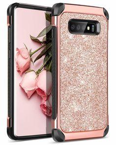 1298b8082 Case for Samsung Galaxy S10 Plus 2 in 1 Luxury Glitter Shockproof Sparkle  Bling  BENTOBEN