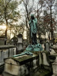 Pere Lachaise cemetery in Paris, France.  Photo by Andrea Duffy
