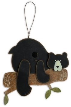 Sunset Vista Design 91213 Lodge Collection Bear Hug Bird House by Sunset Vista Design. $22.00. Coordinate with sunset vista designs chimes, bird feeders, and other outdoor decor. Wire hanger to hang sturdily. Bear façade is metal and back is wood birdhouse. Bird house is metal and wood. 12-inch long by 6-inch wide. Sunset Vista Designs brings the fun and whimsical to your home and garden in multi-media décor. The Lodge Collection has traditional icons; bears, moose, ...