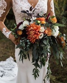 Bridal bouquet for fall wedding flower bouquet wedding flower Wedding Bells, Boho Wedding, Floral Wedding, Dream Wedding, Wedding Day, Rustic Wedding, Bohemian Wedding Flowers, Wedding Venues, Wedding Vows