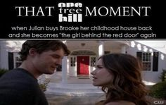 "When I saw this I yelled, ""Oooohhh, she's the girl behind the red door again!"""