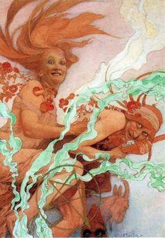 October (detail), Alphonse Mucha
