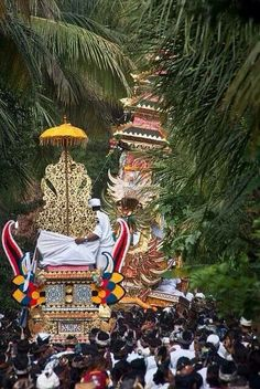 Balinese cremation procession