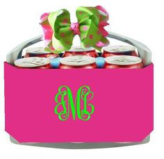 How cute!!!!  Perfect for the upcoming cheerleading season!  6-Pack Coolers Pink