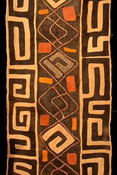 While I was in Northern California this summer, I visited the Sujaro Gallery of African Art in Mill Valley, and I was blown away by their superb inventory of authentic sub-Saharan textiles. I bought one of the traditional Kuba dance skirts from the D . African Textiles, African Fabric, African Prints, Tribal Patterns, Textile Patterns, African Patterns, Textile Texture, Textile Art, Africa Art