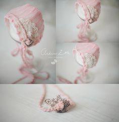 Strawberry dream bonnet / Andrea Zoll design
