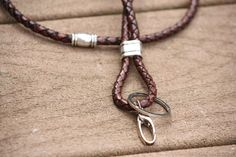 Antique Bolo, Leather Lanyard, Braided Cord, Lanyard, Badge Holder, For Him, For Her, Leather Key chain, Accessories by TheBeautyfulLife on Etsy