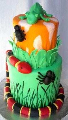 The Cake Market. Creepy Crawly Cake; very cute!