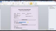 Tutoriel vidéo pour apprendre à créer un formulaire sous Word en utilisant les boutons de contrôles de formulaire et les formulaires hérités. Comment créer une liste déroulante, des cases à cocher et des zones de saisie ? Comment empêcher la modification d'un formulaire ? Pour lire ce tutoriel en version texte, rendez-vous sur Votre Assistante : http://www.votreassistante.net/creer-un-formulaire-sous-word