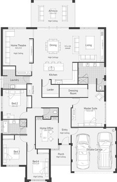 A nice layout! austin 1 floor plans in 2019 проекты домов, New House Plans, Dream House Plans, House Floor Plans, Bedroom Layouts, House Layouts, The Plan, How To Plan, Kings Home, Home Design Floor Plans