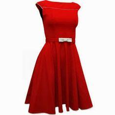 Vestido vintage, outra linda opção para o Natal.