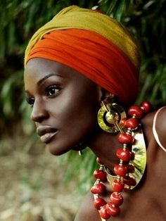 Beautiful African lady