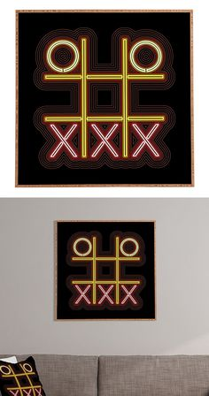 We saw a ton of potential for contemporary genius in the Electric Avenue Framed Wall Art. This cool piece presents a neon-like version of tic-tac-toe in fun colors and brings a boost of energy. Wouldn'...  Find the Electric Avenue Framed Wall Art, as seen in the All for Walls SALE Collection at http://dotandbo.com/collections/all-for-walls-sale?utm_source=pinterest&utm_medium=organic&db_sku=127443