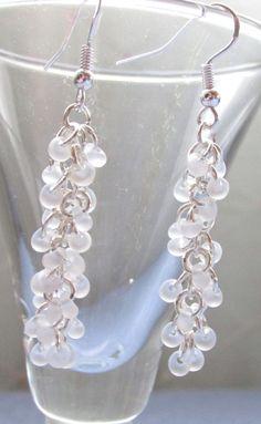 Dangle Earrings Shaggy Loops Earrings by SimplyBeadifulDesign