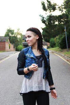 autumn fashion, fall fashion, london fashion blog, sweater weather, october fashion, personal style blog, long hair, side shaved hair, girly mohawk, side braid, braided hairstyle, dutch braid, waterfall braid, four strand braid