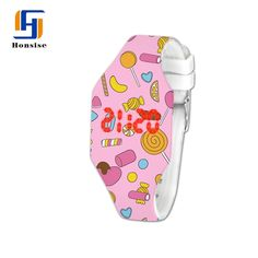 China led watch,China Watch With Printing Pattern,China Sport Silicone Children Watch