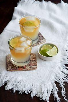 Dark'N'Stormy   Rum, Ginger Beer, & Lime