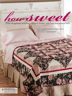 The classic combo pink & black makes a splash in How Sweet It Is by Jennifer Bosworth. fabrics from St Remy by Robyn Pandolph. See it in October 2012 issue of APQ.