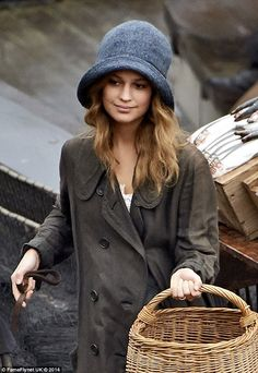 First arrival: Alicia Vikander begins filming for her role in The Danish Girl