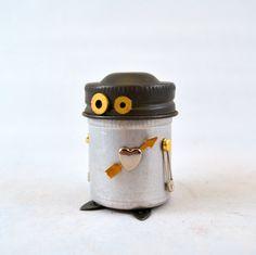 MR. BON JOVI Assemblage Art Recycled Robot Sculpture