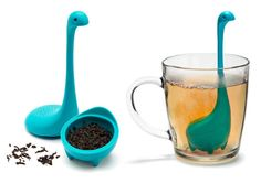 This Baby Nessie Tea Infuser from OTOTO will cost you $14(USD). It's totally worth it, because a trip to Scotland costs much more and there's no guarantee that you will even see the mother, let alone the baby. Now you are sure to have a sighting in your tea cup.