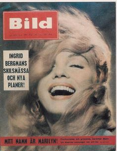 Bild Journalen - November 1957, magazine from Sweden. Front cover photo of Marilyn Monroe by Jack Cardiff, 1956.