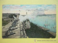 HABANA. BATERÍA ANTIGUA EN LA CABAÑA. 1921 (Postales - Postales Extranjero - América - Cuba)