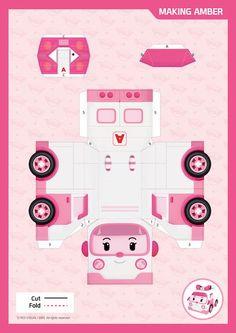 Activities - Robocar POLI Paper Crafts For Kids, Diy Paper, Projects For Kids, Diy And Crafts, 3rd Birthday Parties, Diy Birthday, Robocar Poli, Paper Toys, Diy Toys