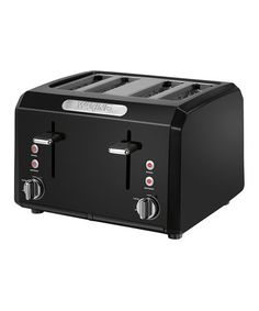 Black Cool Touch Four Slice Toaster #zulily #zulilyfinds