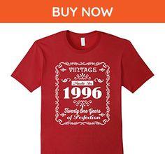 Mens 21th birthday Gift Idea 21 Year Old Boy Girl Shirt 1996 Medium Cranberry - Birthday shirts (*Amazon Partner-Link)