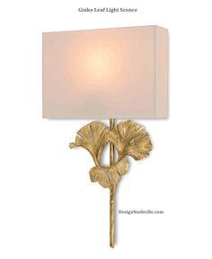 Ginko Leaf Light Sconce
