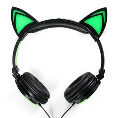 Glowing cat ear headphones Gaming Headset Earphone with LED