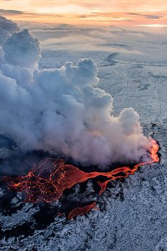 Volcano at Iceland || Source || Location54
