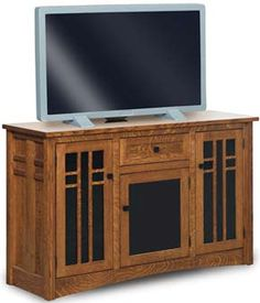 33% OFF Amish Furniture - Hand Crafted Shaker and Mission Furniture Online Outlet Store: Kascade LCD TV Stand: Oak