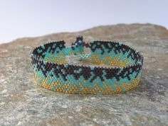 MadeToOrder Bracelet in Purple Aqua and Gold Seed by SierraBeader
