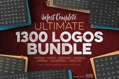 1300 Logos Ultimate Bundle by Zeppelin Graphics on @creativemarket
