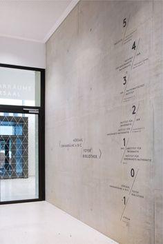 Time Tunnel Katrin Schacke - Konzeption & Design Natural Cork Flooring With the myriad of flooring t Environmental Graphic Design, Environmental Graphics, Wayfinding Signage, Signage Design, Office Interior Design, Office Interiors, Hospital Signs, Toilette Design, Graphisches Design