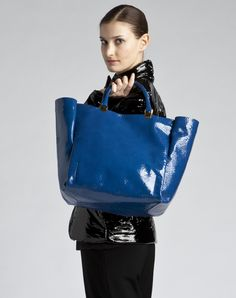 Lanvin Shopping Bag In Patent Leather