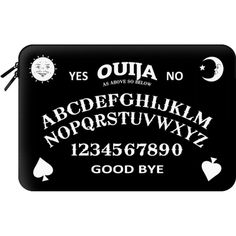 Ouija - Macbook Sleeve featuring polyvore, women's fashion, accessories, tech accessories and macbook sleeve