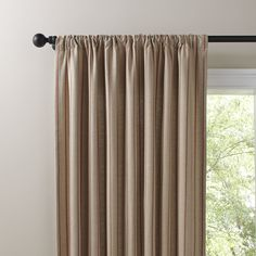 Birch Lane Devonshire Single Curtain Panel, brick red and jute red for the dining room?