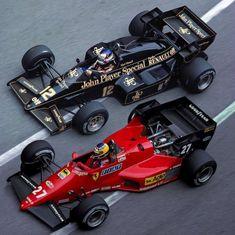Nigel Mansell Lotus Michele Alboreto Ferrari Monaco GP