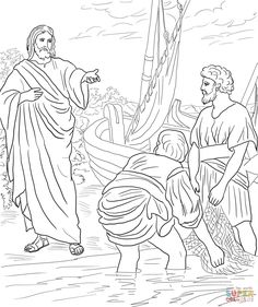 Jesus Calls The First Disciples Coloring Page From Mission Period Category Select 28368 Printable Crafts Of Cartoons Nature Animals