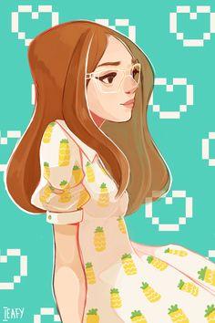 Pineapple dress by Ieafy.deviantart.com on @deviantART